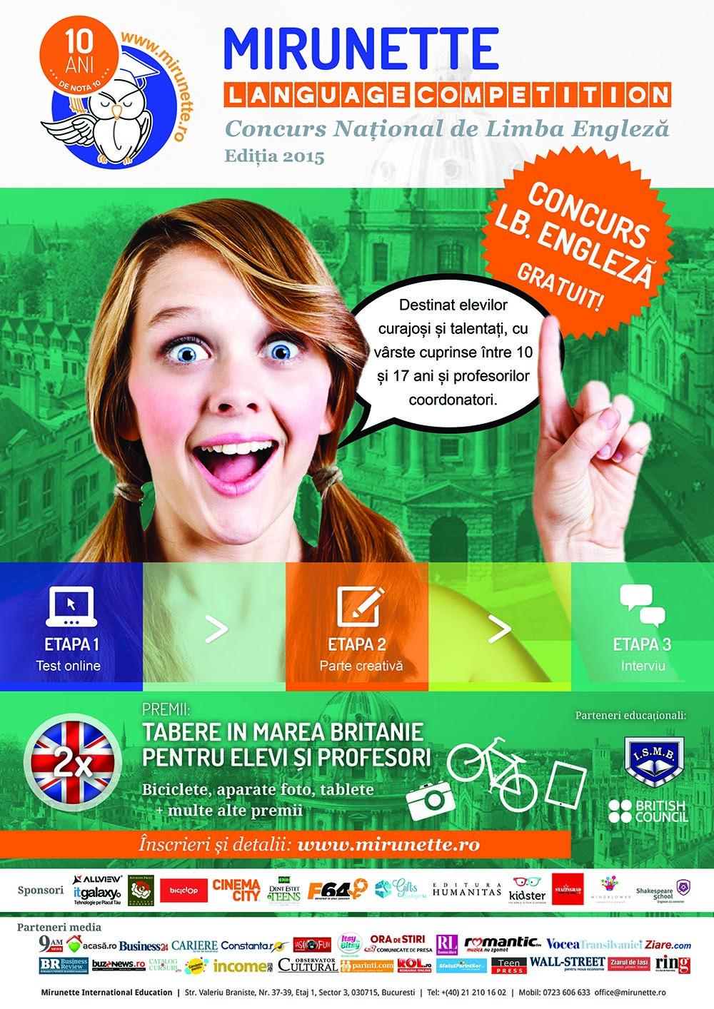 Tabere Anglia Mirunette language Competition