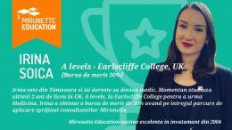 Mirunette se mândrește cu Irina-Lavinia Soica, premiată la Dukes