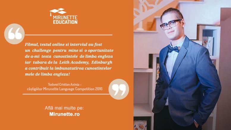 concursul de limba engleza Mirunette Language Competition