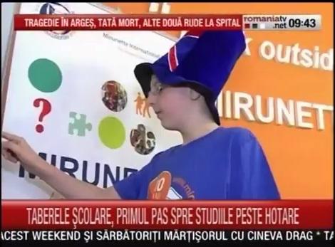 Video RomaniaTV despre tabere educationale in UK
