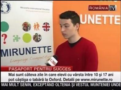 Video RomaniaTV despre studiul in strainatate